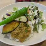フラワー ナチュラル フード カフェ - 季節野菜のキーマカレー