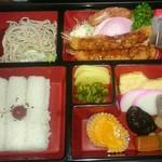 春木屋 - そば弁当 (エビフライ) ¥880