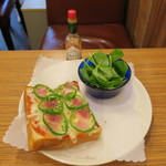 喫茶 宝石箱 - ピザトースト1