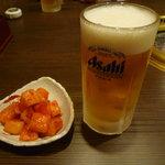 7514343 - 【生ビール 546円】と【カクテキ 346円】