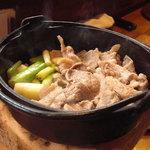 京雀 - 青首と九条ねぎの鍋。