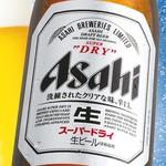 味太助 - アサヒスーパードライ 瓶ビール(中)