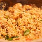 75141146 - 雲南豆腐あんかけ土鍋御飯 890円 の良くかき混ぜた状態