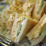 なかおか珈琲 - つぶし卵のトーストサンドセット