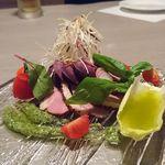 新横浜 grill&wine NYグリル - 合鴨の燻製 バジル風味