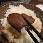 個室肉処 黒べこ亭 - ご飯と一緒に…