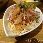 がブリチキン - 蒸し鶏ポン酢(390円)