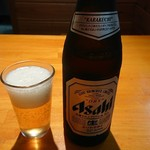 こってりらーめん せきやけ - 瓶ビール(550円)