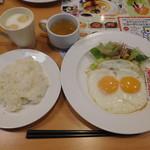 ガスト - 目玉焼きセット¥399+税