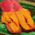 鮨 たじま - 炙り和牛と雲丹