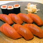 魚こう鮨 - ランチ鮪にぎり 1000円