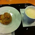 エクセルシオールカフェ - スコーンと豆乳ラテのセット