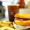 Caribou Coffee & Einstein Bros. Bagels - 料理写真:LTO Sandwich ($5.89)、Cold Press Midium ($8.89+$0.21)