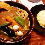 ラマイ - スープカレー チキン/ライスS/辛さ3 1,100円