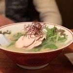 まる田 - 鶏白湯麺950円