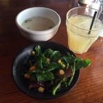 ボブズリブズ - セットのサラダ・スープ・ドリンク