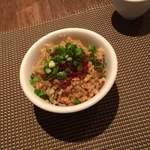 くろさわ東京菜 - 料理写真:紹興酒漬けイクラ乗せチャーハン