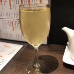京都 錦 天ぷら酒場 たね七 - なみなみ白(380円)