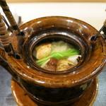 銀座 よし澤 - 鱧と松茸の土瓶蒸し