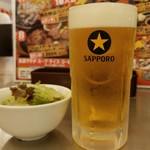 肉の村山 錦糸町マルイ店 - 生ビール(550円外税)