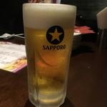 石庫門 - 生ビール330円(ハッピーアワー19時迄の値段)