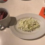 バワリー・キッチン - ランチセットのスープとサラダ