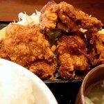 """家庭料理の店 Ryo - """"鶏の唐揚げ定食 大盛(750円)"""""""