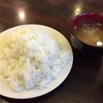 レストハウスポプラ - ライスと味噌汁♪