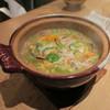 ゆう - 料理写真:ズワイガニと旬菜の餡かけ土鍋ご飯1