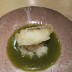 ゆう - 黒むつの揚げもの 蕪の蒸し煮と炙った万願寺唐辛子のソース2
