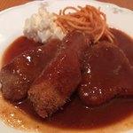 75183805 - 三種のビーフカツレツ定食♫1230円3種類はサーロイン、牛スジ、フィレ肉になってます♫