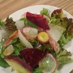 75185061 - 生ハムと10種鎌倉野菜のサラダ