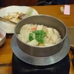 加護や - ホタテと蟹の炊き込みご飯