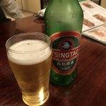 廣東飯店 - 青島ビールは飲みやすい‼️