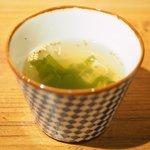 しゃぶしゃぶシャ豚ブリアン - シャ豚ブリアン定食 2376円 の鶏スープ