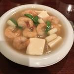 廣東飯店 - 海老と豆腐のあんかけ