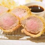 しゃぶしゃぶシャ豚ブリアン - シャ豚ブリアン定食 2376円 のシャ豚ブリアンヒレカツ