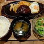 """しゃぶり庵 - """"ビーフ100%ハンバーグステーキ"""""""