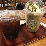 ホノルルコーヒー - ドリンク アイスコーヒーと抹茶