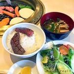 75198112 - ご飯 サラダ お味噌汁
