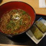 静亭 - 2011-04-19山菜そば定食1050円