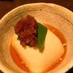 家庭料理 ひまわり - 付きだしの豆腐(^_^)