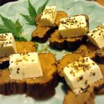 蕗の薹 - いぶりがっこクリームチーズ