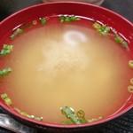 肴屋 - ランチ味噌汁