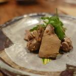 辺銀食堂 - お通し 鹿児島の地鶏のレバー