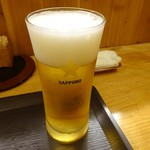 志乃家 - まずは「生ビー」540円^^