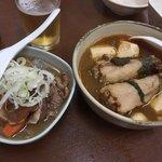 ばん - 煮込み、とんび豆腐2本。