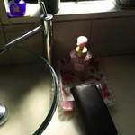 ラーメン 厚木家 - 食事の前には 手を洗いましょう♪(笑)(*´∇`*)←califさんの財布先生に 教わりました♪(笑)(*´∇`*)
