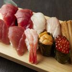 寿司酒場 スシイチ - 【寿司】本日の贅沢十貫