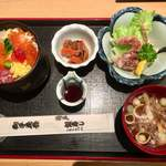 柏戸銀寿し - 二枚目+カニ揚 ¥1320